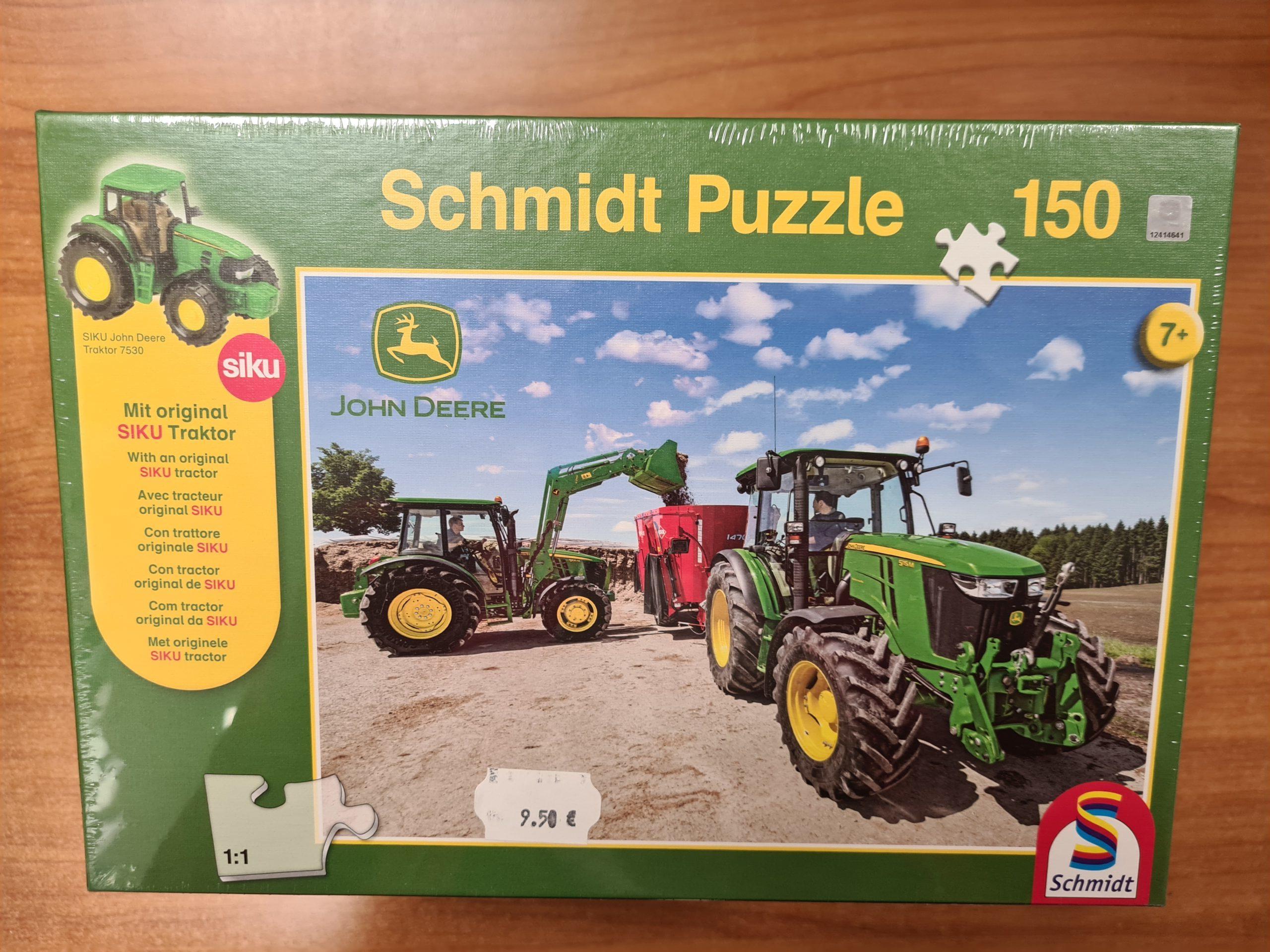 Puzzle John Deere 150 pièces + 1 modèle réduit 7530 offert