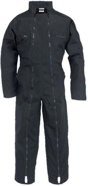 combinaison de travail 2 zips noire