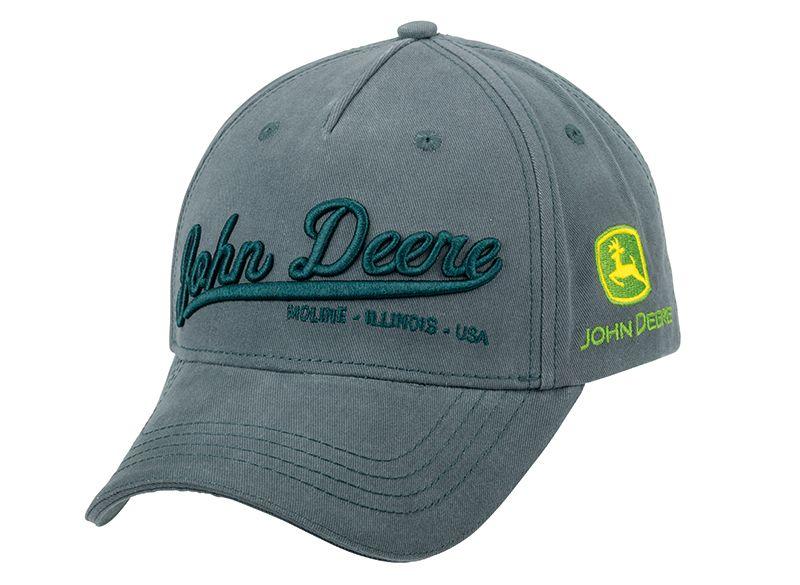 Casquette Grise Logo John Deere MCL201918011