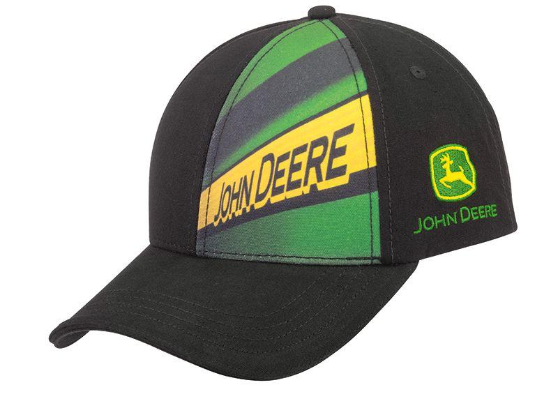 Casquette noire logo John Deere MCL201916011