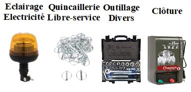 Outillage divers - Libre service